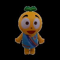 mascot malaysia inflatable with fur hola mascot redoxon orange 1