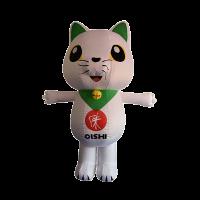 custom made maskot malaysia oishi cat hola mascot 1