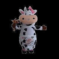 mascot malaysia inflatable with fur hola mascot maverick cow 1