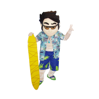 mascot malaysia supplier hawaii boy hola mascot 2
