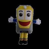 custom made mascot rental komi ktmb Hola mascot 1