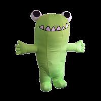 custom made mascot malaysia green dinasour hola mascot 4