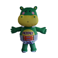 custom mascot supplier malaysia petpet soft hippo disposable 1