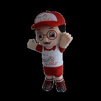 custom made mascot smart reader boy hola mascot 5