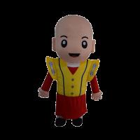 custom made mascot malaysia monk yellow hola mascot 1