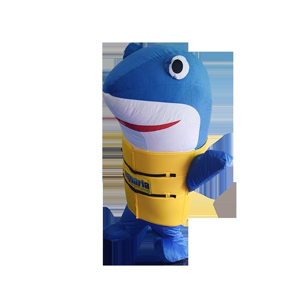 mascot malaysia aquaria klcc shark hola mascot 6