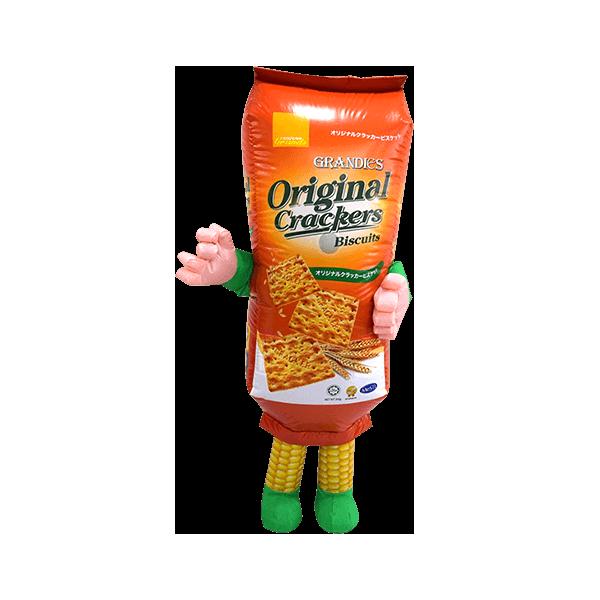 custom mascot malaysia corn crackers hola mascot 1