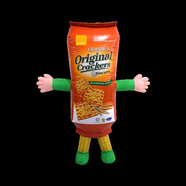 custom mascot malaysia corn crackers hola mascot 4