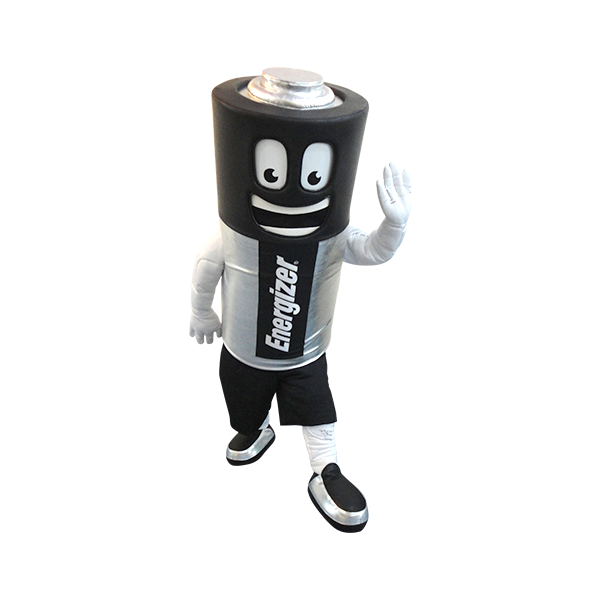 custom made mascot energizer battery hola mascot 2