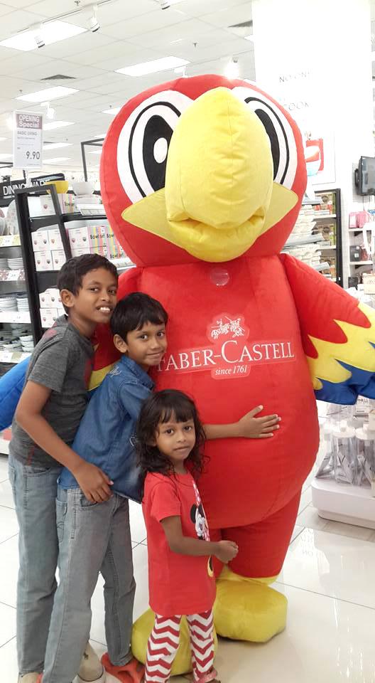 custom made mascot faber castell hola mascot event 1