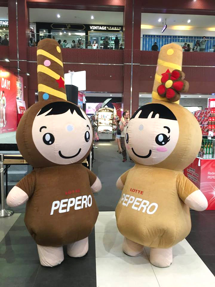 custom made mascot lotte pepero Hola Mascot event 4