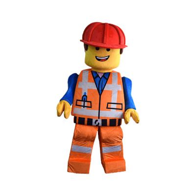 mascot malaysia lego construction worker hola mascot 2