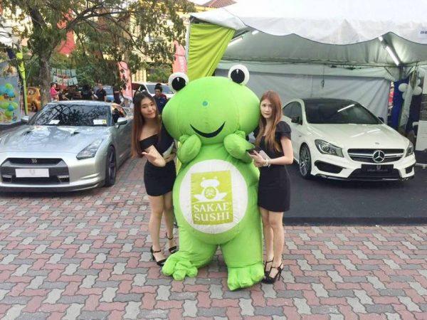 custom made mascot for Sakae sushi from Hola Mascot Event 2