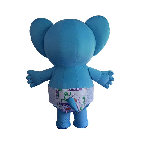 custom mascot supplier malaysia petpet soft elephant disposable 3