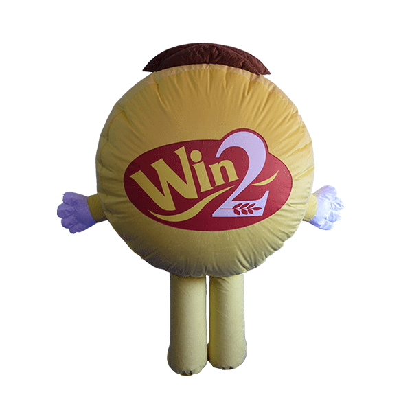 mascot costume winwin girl hola mascot 3