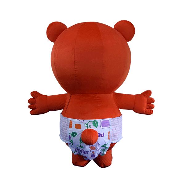 custom mascot supplier malaysia petpet soft bear disposable 3
