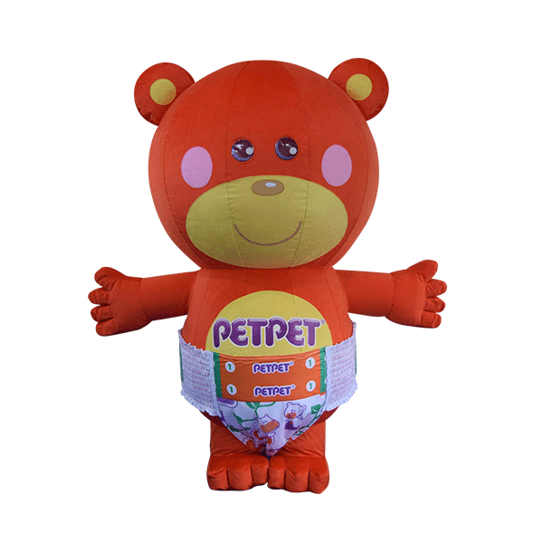 custom mascot supplier malaysia petpet soft bear disposable 1
