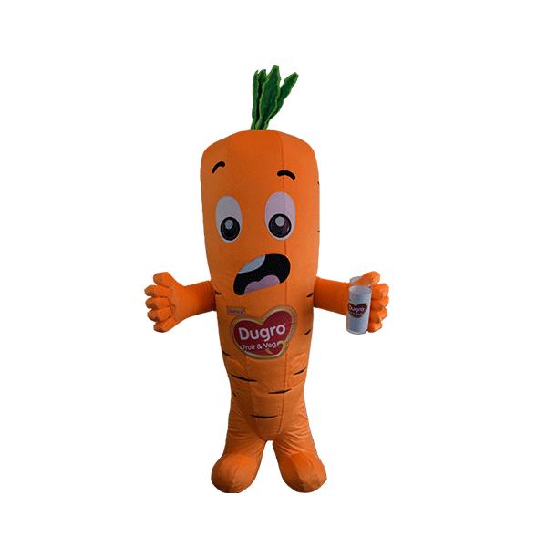custom mascot supplier malaysia danone dugro carrot hola mascot 1