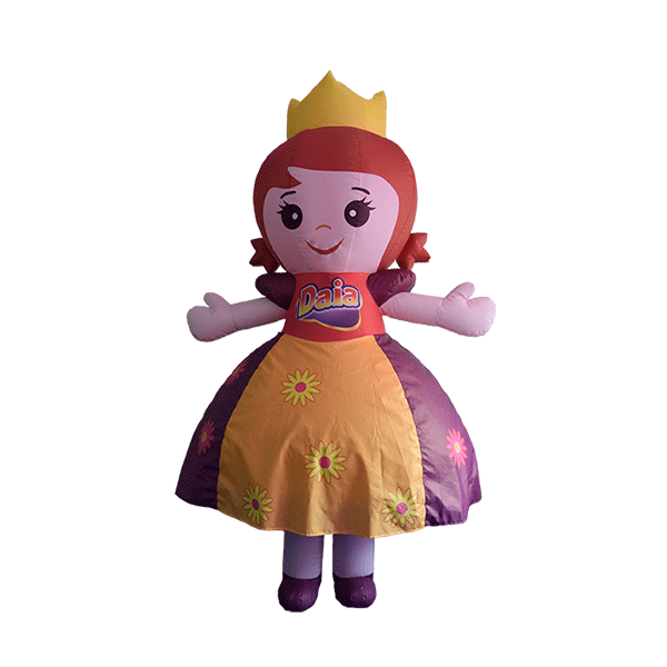 custom mascot supplier malaysia daia princess hola mascot 3