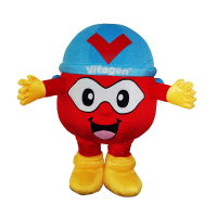 custom mascot supplier malaysia vitagen captain V hola mascot 1