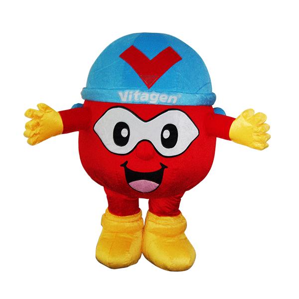 custom mascot supplier malaysia vitagen captain V hola mascot 1