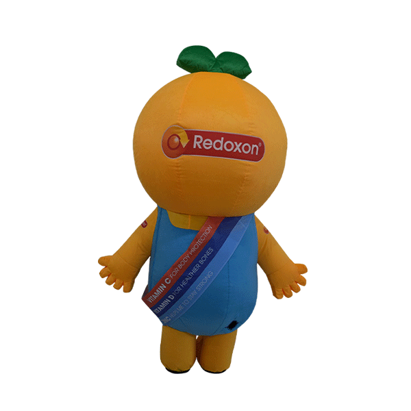 mascot malaysia inflatable with fur hola mascot redoxon orange 3