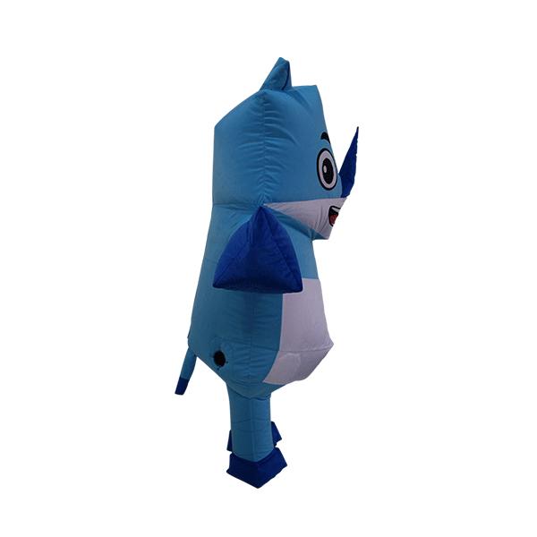 mascot malaysia inflatable with fur hola mascot origami rhino 3