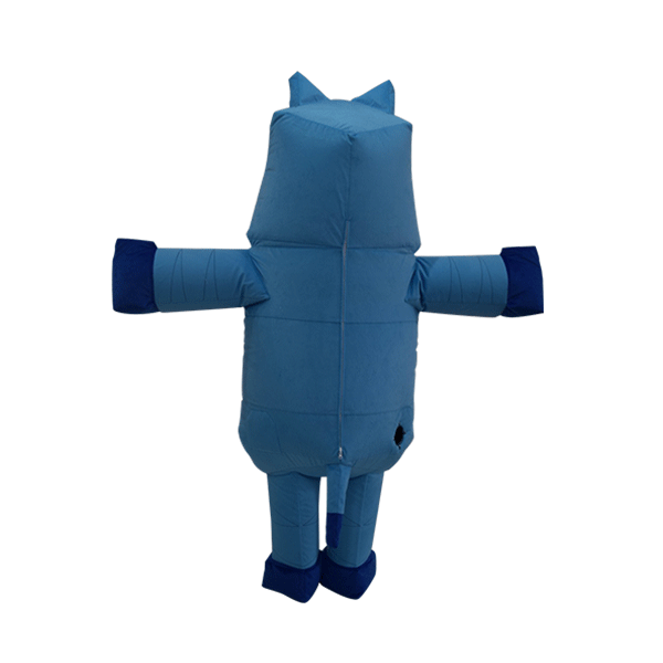mascot malaysia inflatable with fur hola mascot origami rhino 2