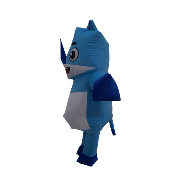 mascot malaysia inflatable with fur hola mascot origami rhino 1