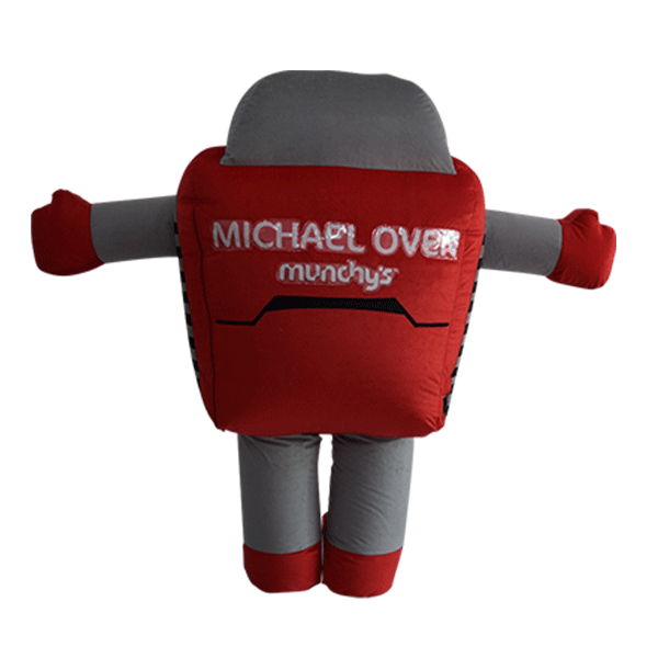 mascot malaysia inflatable with fur hola mascot Munchy's micheal oven 3