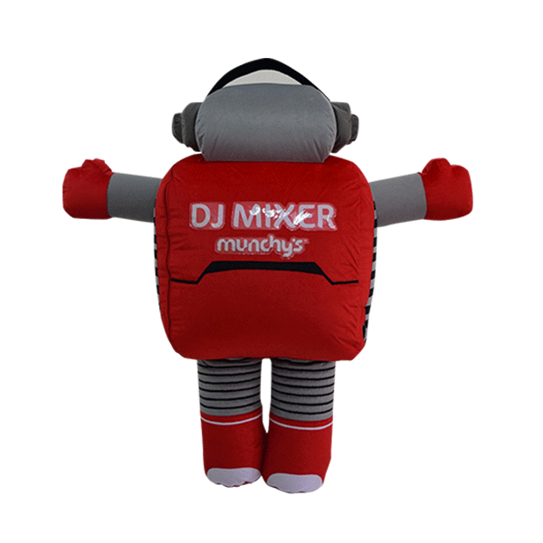 mascot malaysia inflatable with fur hola mascot Munchy's Dj mixer 3