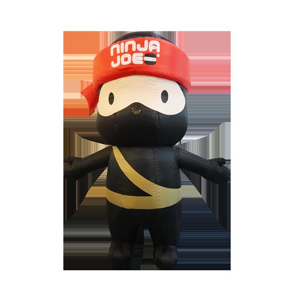 inflatable mascot malaysia ninja joe hola mascot 1