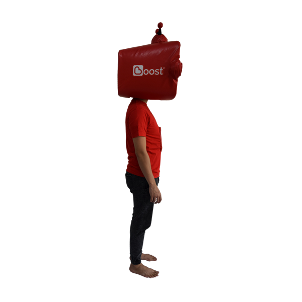 inflatable mascot malaysia boost app hola mascot 4
