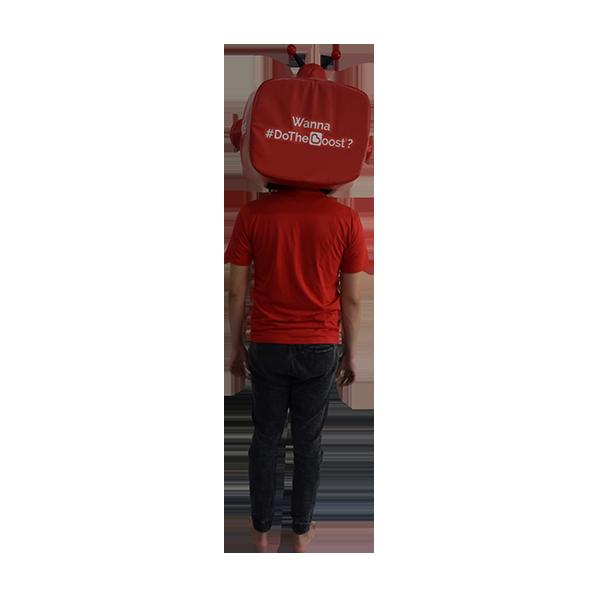 inflatable mascot malaysia boost app hola mascot 3