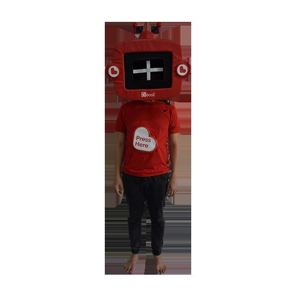 inflatable mascot malaysia boost app hola mascot 1