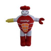 mascot malaysia inflatable with fur hola mascot Munchy's chop chop 1