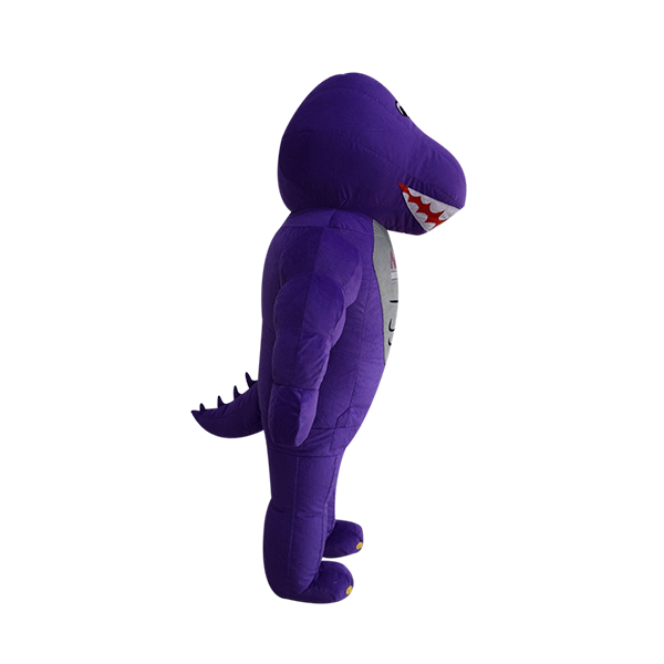 mascot malaysia inflatable with fur hola mascot mrp purple dinasour 4