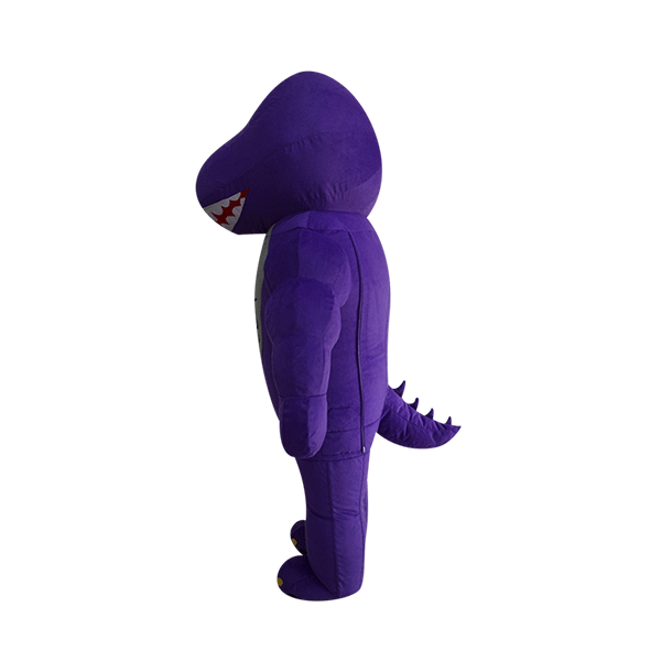 mascot malaysia inflatable with fur hola mascot mrp purple dinasour 2