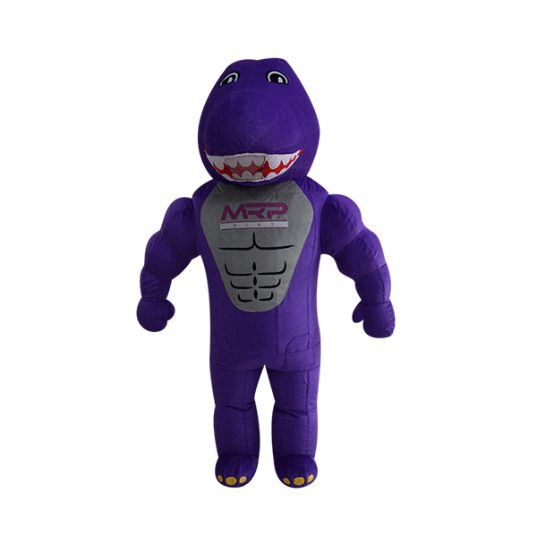 mascot malaysia inflatable with fur hola mascot mrp purple dinasour 1