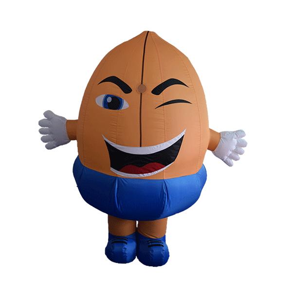 custom made maskot malaysia nuts hola mascot 1