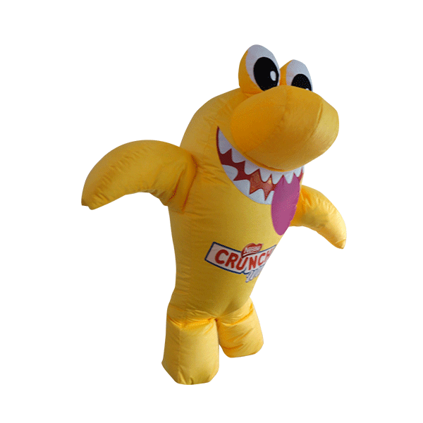 custom made maskot malaysia nestle shark wafer hola mascot 8