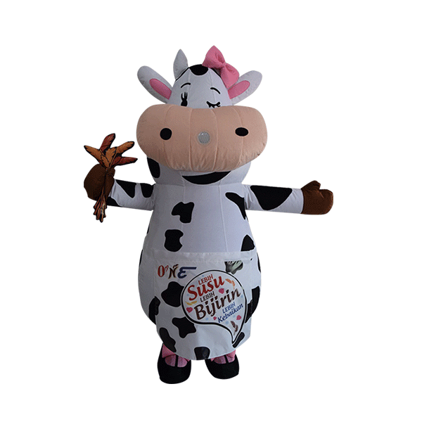 mascot malaysia inflatable with fur hola mascot maverick cow 1