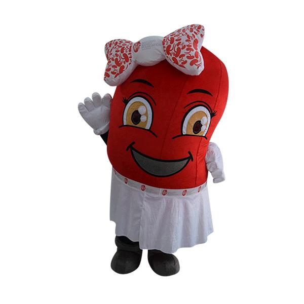 custom made mascot rental malaysia kidney women Hola mascot 4