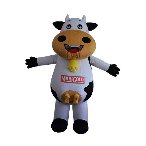 custom made maskot marigold cow hola mascot 1