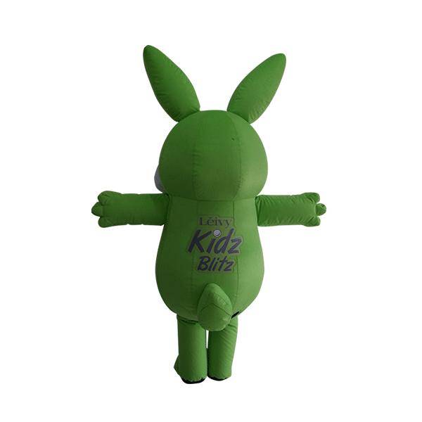 mascot leivy green rabbit custom made hola mascot 2