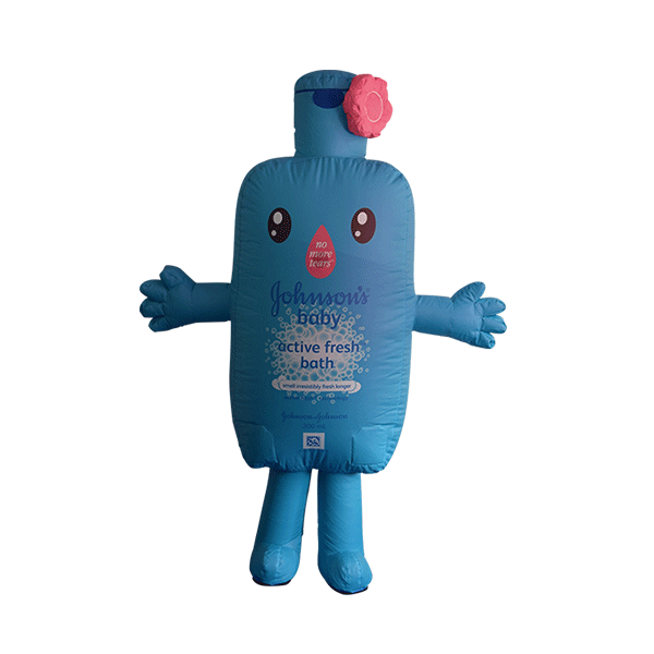 inflatable mascot rental malaysia johnson baby Hola mascot 1