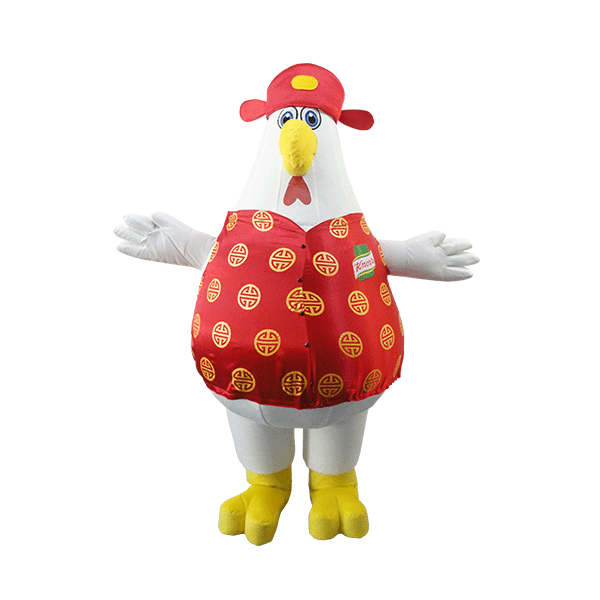 chinese new year mascot knorr chicken custom made hola mascot 1