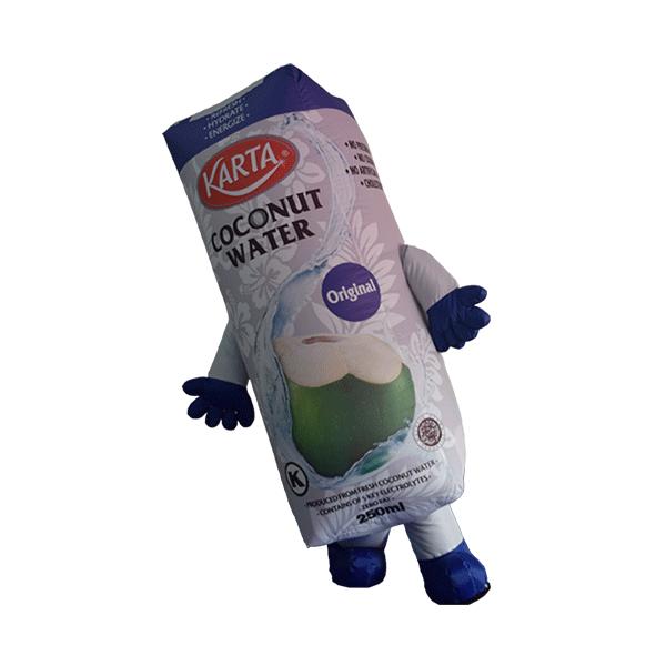 custom made mascot malaysia karta coconut water hola mascot 4