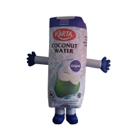 custom made mascot malaysia karta coconut water hola mascot 1