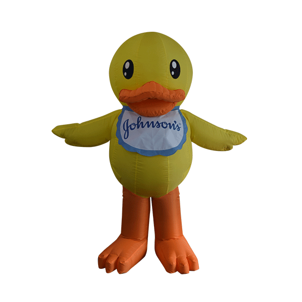 custom made mascot malaysia johnson duck hola mascot 1